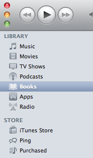 iTunes Books Tab